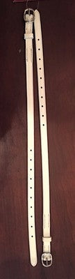 Garter Straps, 19'' white leather, sold as a pair - LIMITED QUANTITY