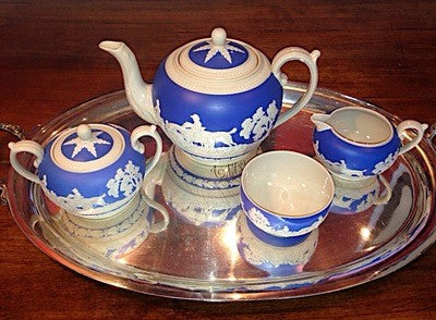 Bar/Tableware, Fine China Hunt Scene Tea Service by Copeland Spode