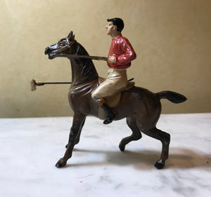 Toy Statue of Polo Player, cold painted