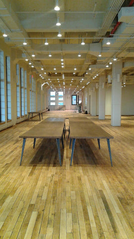 wooden table rentals for chelsea event