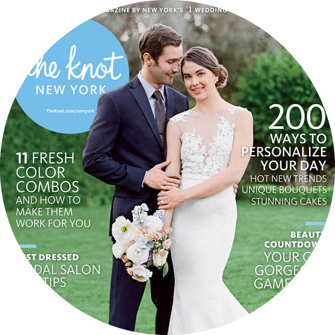 The knot print magazine press x Two of a Kind rentals NYC