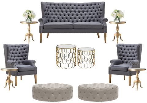 Pair gold accents with your wedding furniture