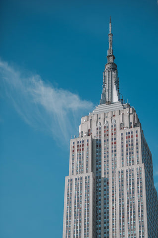 empire state building view from the midtown loft and terrace in manhattan new york