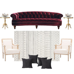 Rosa luxe sofa seating arrangement