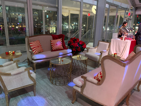 beige sofa rentals from soiree events in nyc at bryant park