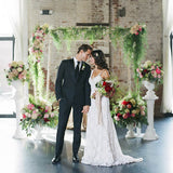 Add flowers to your chuppah rental