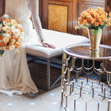 Gold scalloped side table