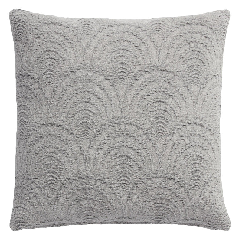 Grey Fan Jacquard Pillow
