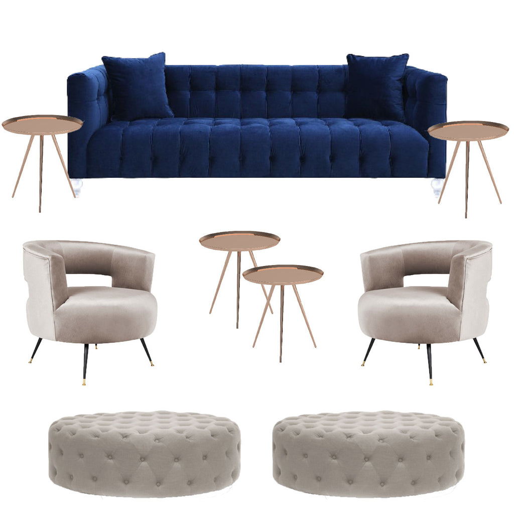 Navy sofa for manhattan weddings