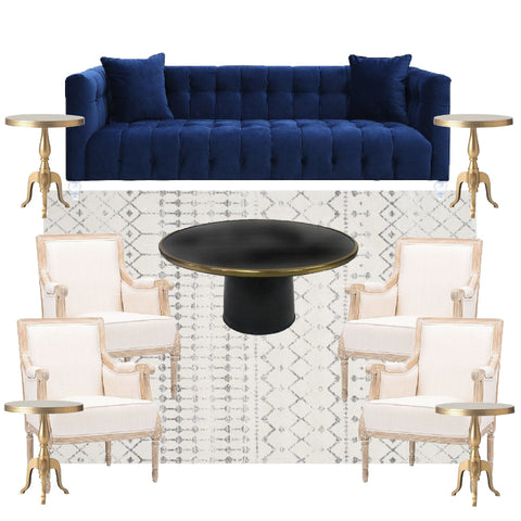 Navy sofa furniture for NYC events