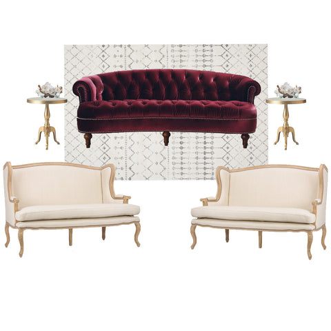 Beige furniture for NYC events