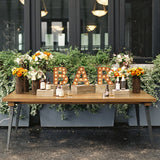 NYC wooden table rentals