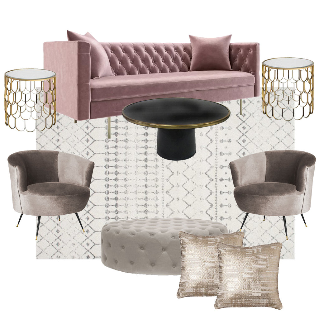 Blush Contemporary Sofa