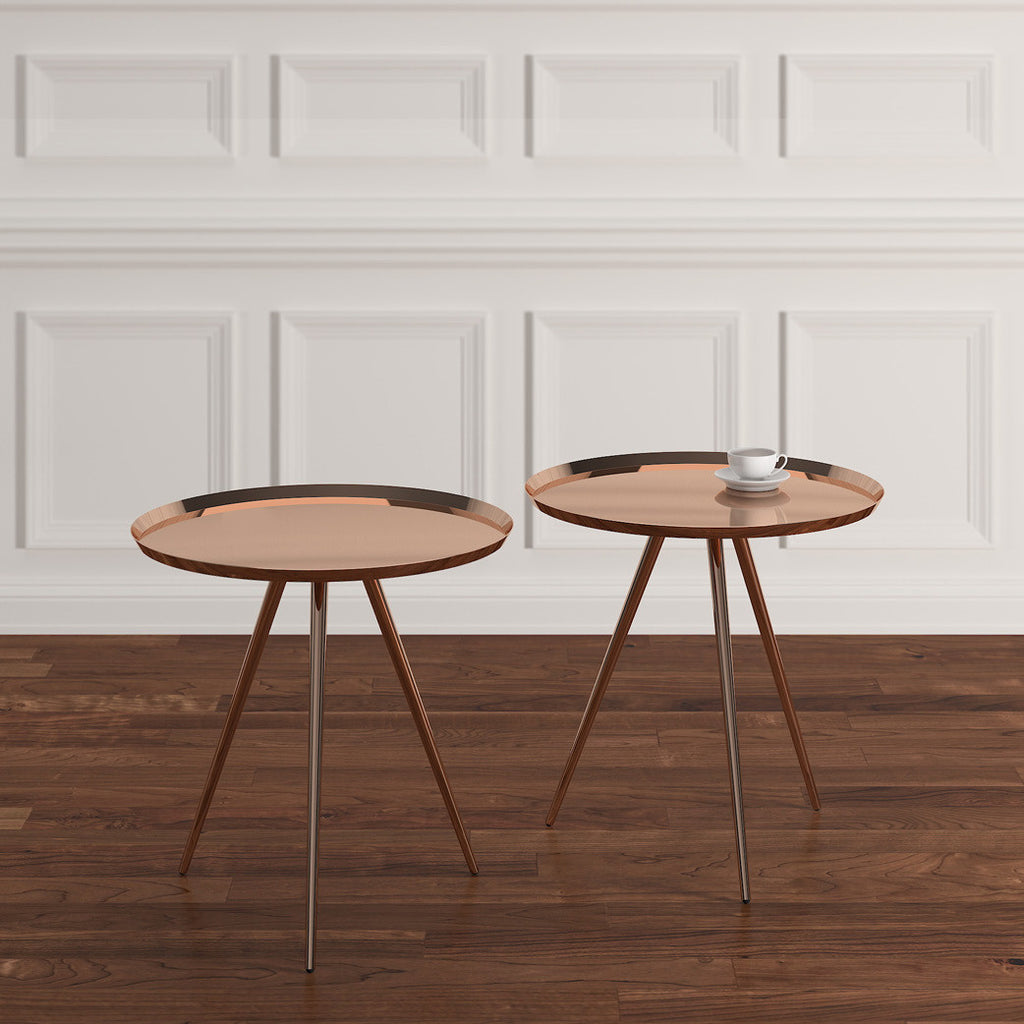 Rent copper accent tables for Brooklyn events