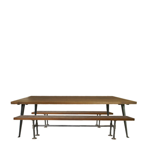 Industrial wooden tables for events