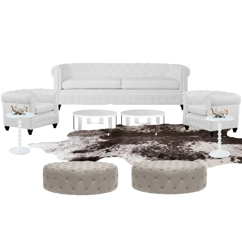 Rent this cowhide rug for events