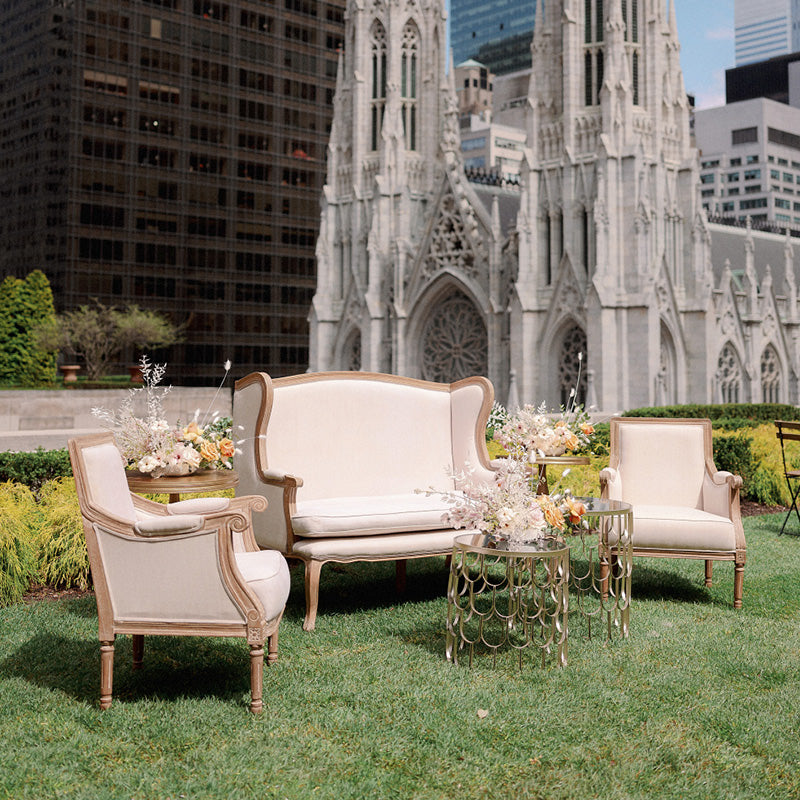 beige wedding rentals nyc