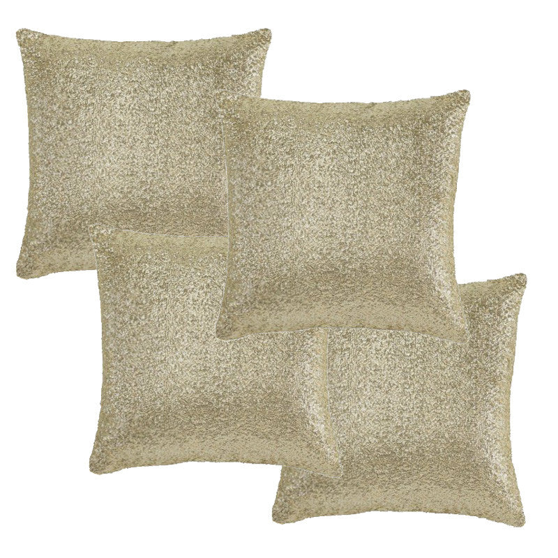 Gold Crackle Pillow