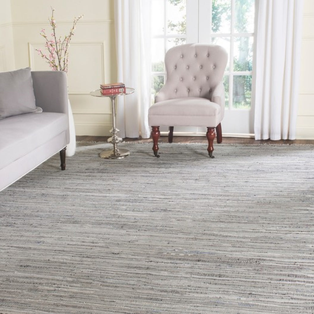 Rent this grey cotton rug for defined event spaces