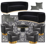 glam furniture rentals gold silver metallic accents nyc events