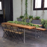 Wooden benches for NYC events