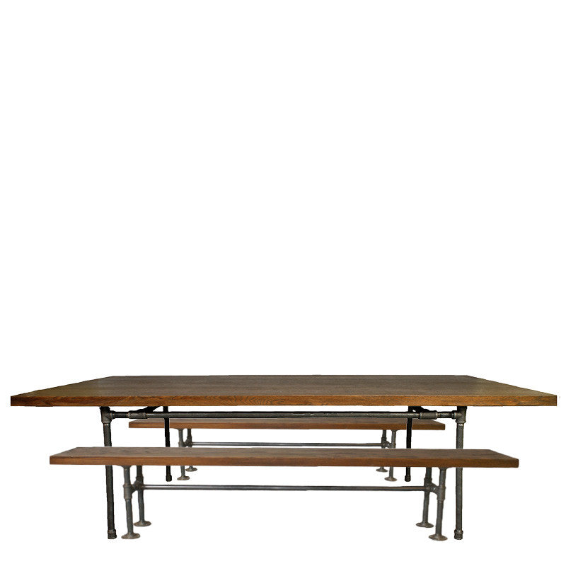 Rent industrial wooden tables