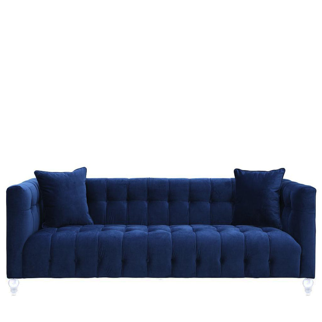 Rent navy tufted sofas