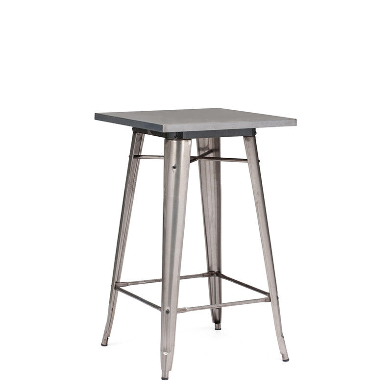 Rent these modern steel pub tables