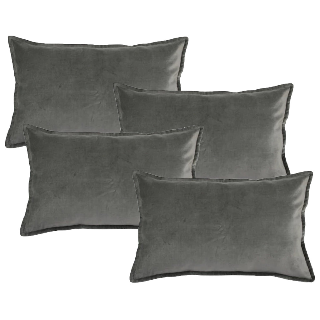 Velvet oblong pillows for events