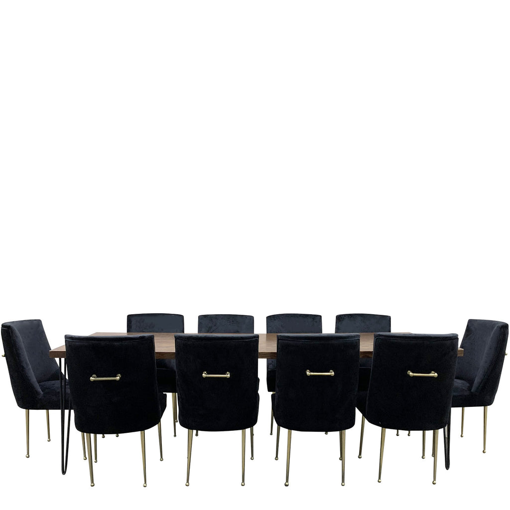Rent black hairpin tables for NYC events