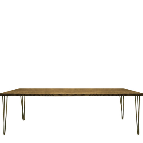 modern gold hairpin table