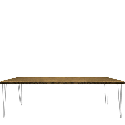 white contemporary hairpin table