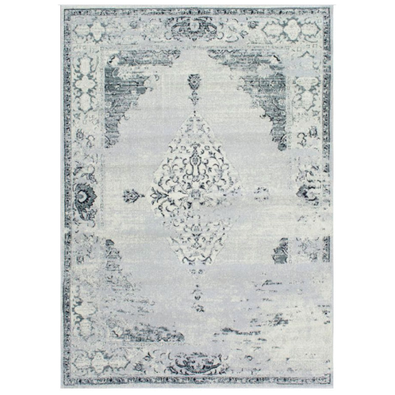 Light Grey Abstract Rug 8' x 11'