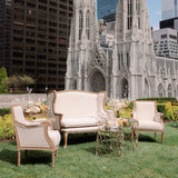 beige and white sofas for events in new york