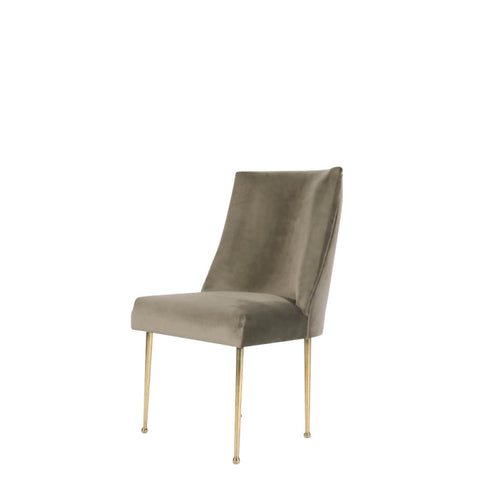 Sleek Accent Chair, Silver Grey