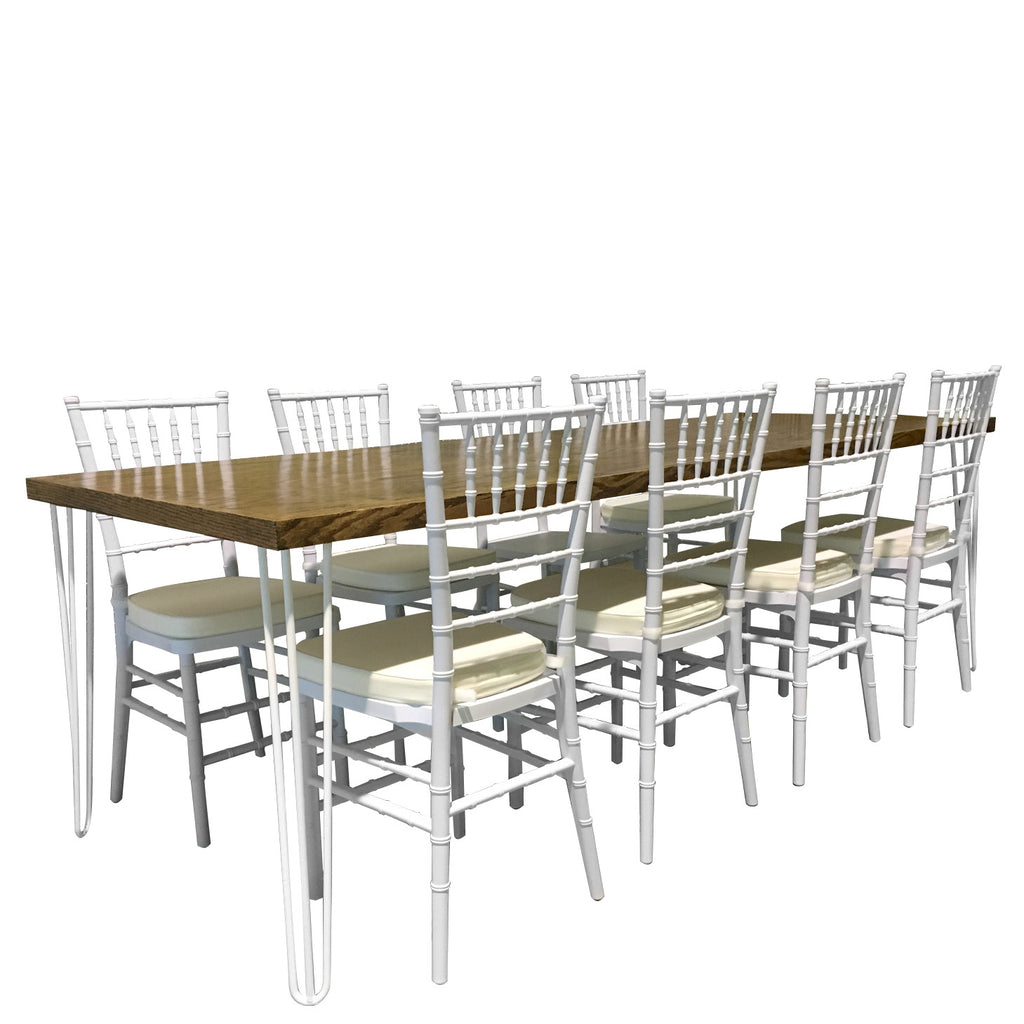 Rent hairpin dining tables for NYC events