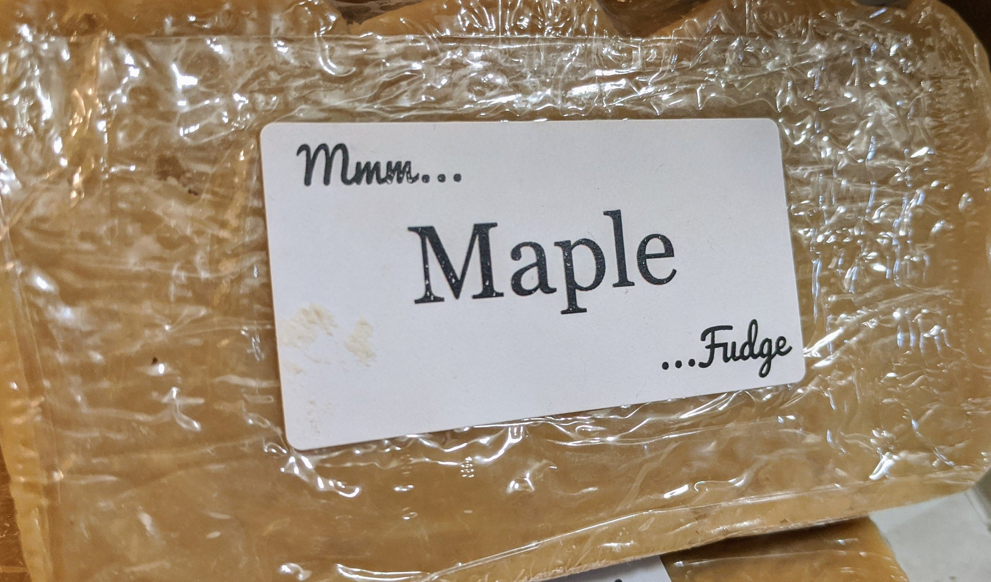 Bargain Bin Fudge: Maple