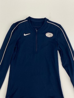 Adult Ladies Long Sleeve Half Zip Navy Nike DRY