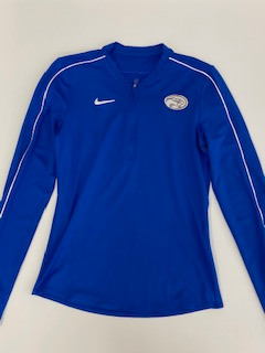 Adult Ladies Long Sleeve Half Zip Royal Nike DRY