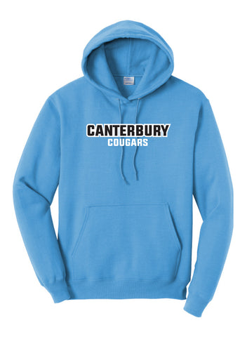 Youth Fleece Pullover Neon Blue Canterbury Hooded Sweatshirt