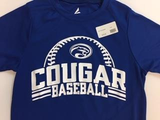 Adult Cougar Baseball Shirt