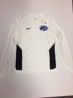 Adult Ladies Miler Long Sleeve White and Black Nike Dry-Fit