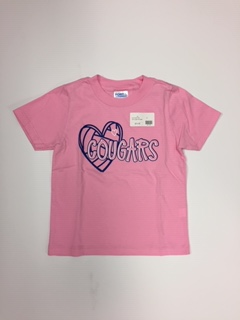 Youth Cougars and Heart Pink Tee