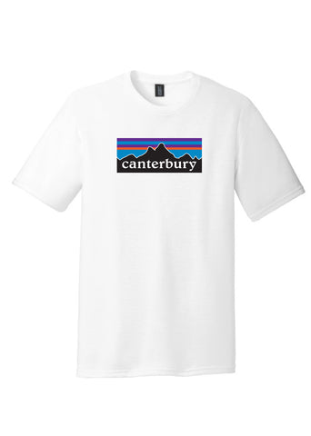 Youth Short Sleeve White Canterbury Mountain 4 Color