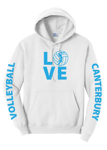 Adult Unisex Volleyball Hoodie