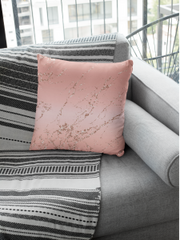 Rose Gold Square Throw Pillow