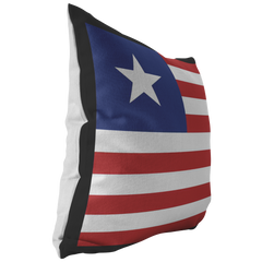 Liberian Flag Throw Pillow