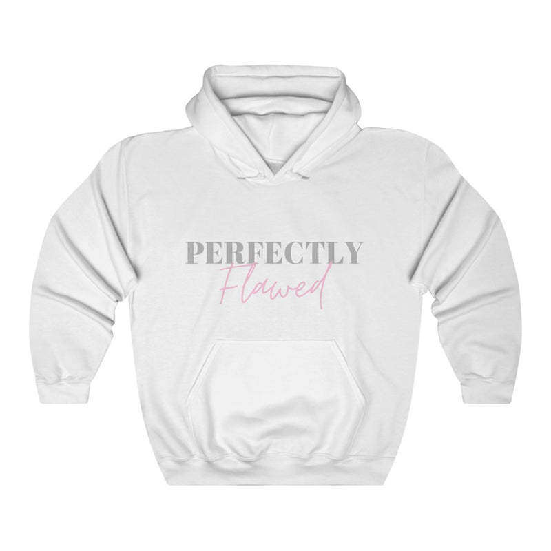 White Perfectly Flawed Hoodie