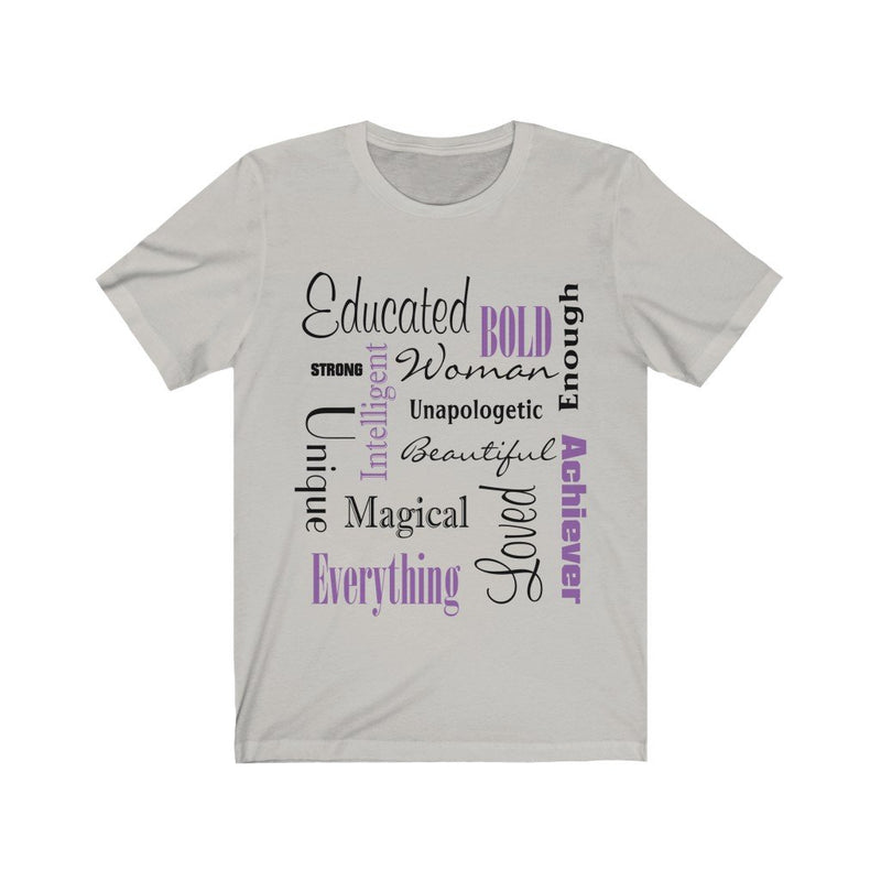 Silver Words of Affirmation Women's Short Sleeve T-Shirt