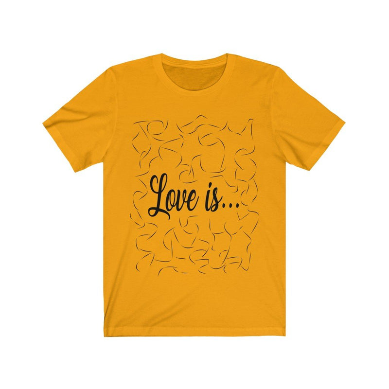 Gold and Black Love Is Shirt